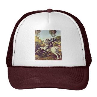 St. George Fighting The Dragon By Raffael Trucker Hat