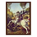 St. George Fighting The Dragon By Raffael Postcard