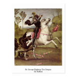 St. George Fighting The Dragon By Raffael Post Cards