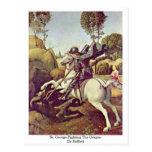 St. George Fighting The Dragon By Raffael Post Card