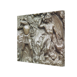 St. George Fighting the Dragon Canvas Print