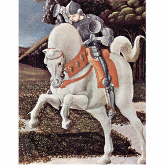 St. George Fighting The Dragon Detail By Uccello Cutout