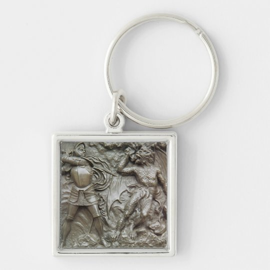 St. George Fighting the Dragon Keychain