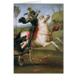 St. George Fighting the Dragon, Raphael Stationery Note Card