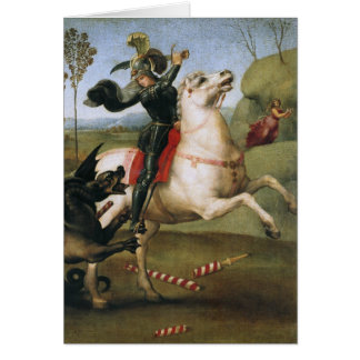 St. George Fighting the Dragon, Raphael Cards