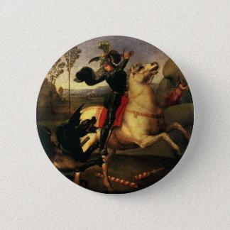 St. George Fighting the Dragon, Raphael, Raffaello Button
