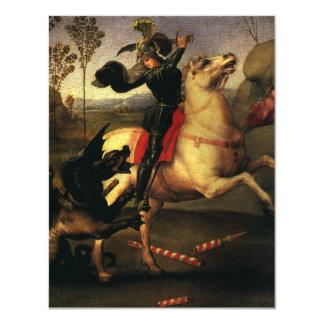 St. George Fighting the Dragon, Raphael, Raffaello Card