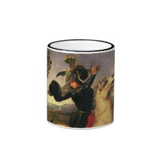 St. George Fighting the Dragon, Raphael, Raffaello Ringer Coffee Mug