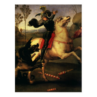 St. George Fighting the Dragon, Raphael, Raffaello Postcard