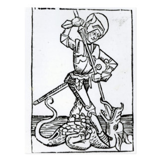 St. George, from the 'Liber Chronicarum' Postcard