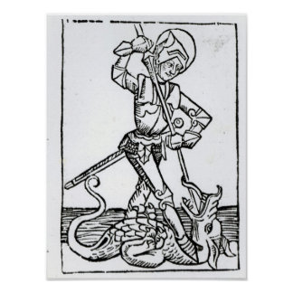 St George from the Liber Chronicarum Posters