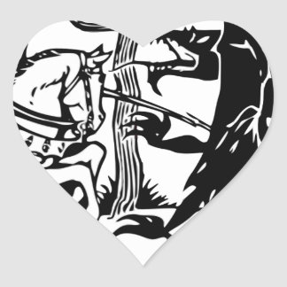 St. George Heart Sticker