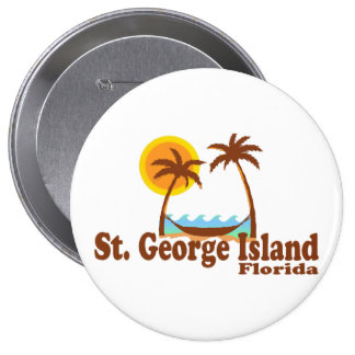 St. George Island. Pinback Button