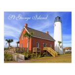 St George Island Lighthouse, Florida Postcard