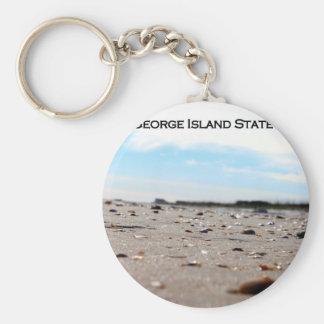 ST. GEORGE ISLAND STATE PARK - FLORIDA BASIC ROUND BUTTON KEYCHAIN
