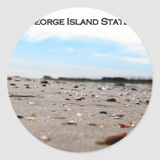 ST. GEORGE ISLAND STATE PARK - FLORIDA CLASSIC ROUND STICKER