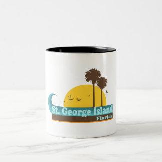 St. George Island. Two-Tone Coffee Mug