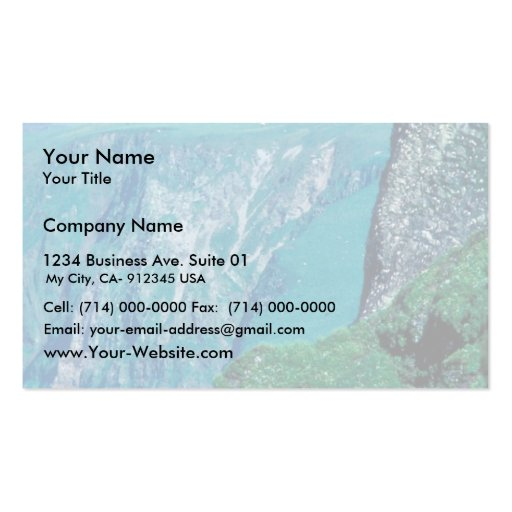 St. George Island village, Pribilof Islands Double-Sided Standard Business Cards (Pack Of 100)
