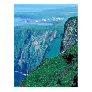 St. George Island village, Pribilof Islands Postcard