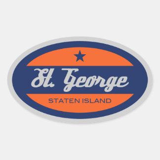 St. George Oval Sticker