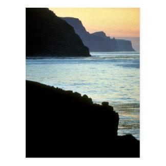 St. George, Pribilof sunset over High Bluffs Postcard