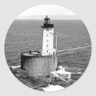 St. George Reef Lighthouse Classic Round Sticker