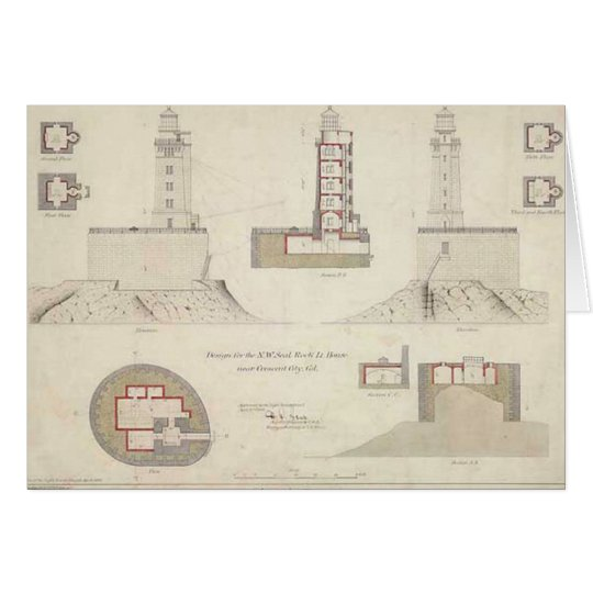 St. George Reef Lighthouse Schematics Card