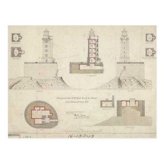 St. George Reef Lighthouse Schematics Postcard