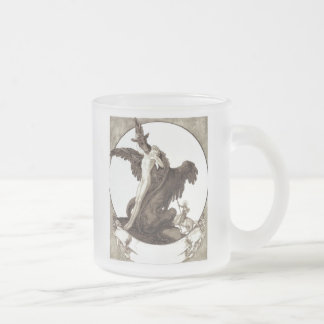 St. George Rescuing a Maiden from a Dragon Frosted Glass Coffee Mug
