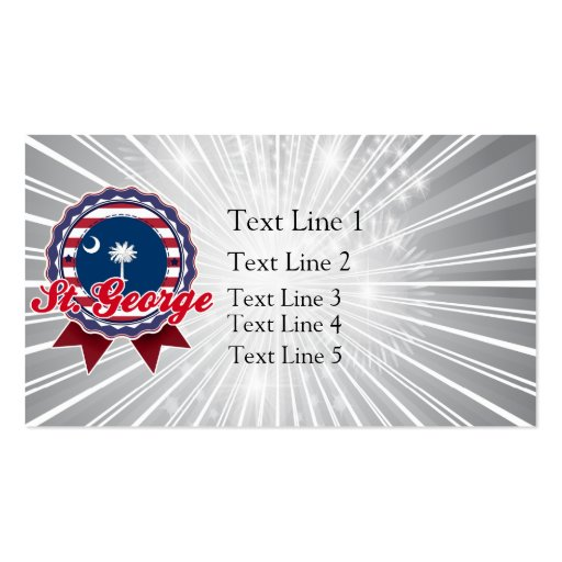 St. George, SC Double-Sided Standard Business Cards (Pack Of 100)