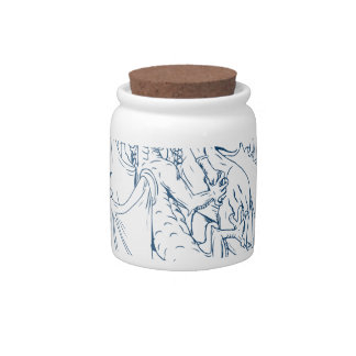 St. George Slay Dragon Drawing Candy Dishes