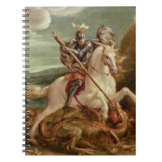 St. George slaying the dragon, (oil on panel) Notebook