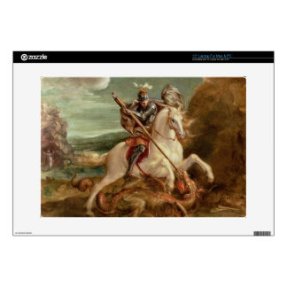 """St. George slaying the dragon, (oil on panel) Skin For 15"""" Laptop"""