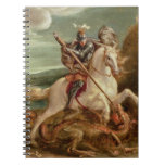 St. George slaying the dragon, (oil on panel) Spiral Notebook