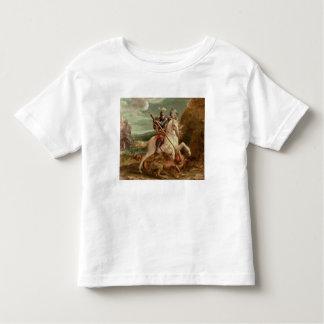 St. George slaying the dragon, (oil on panel) Tee Shirt