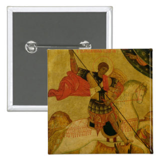 St. George slaying the Dragon Pinback Button