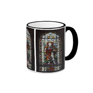 St George stained glass window - Monogram Ringer Mug
