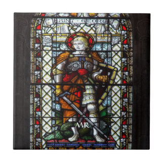 St George stained glass window - Monogram Tile