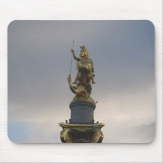 St. George Statue At Liberty Square In Tbilisi Mouse Pad