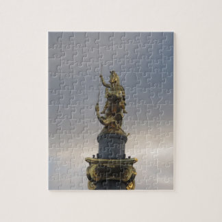 St. George Statue At Liberty Square In Tbilisi Jigsaw Puzzle