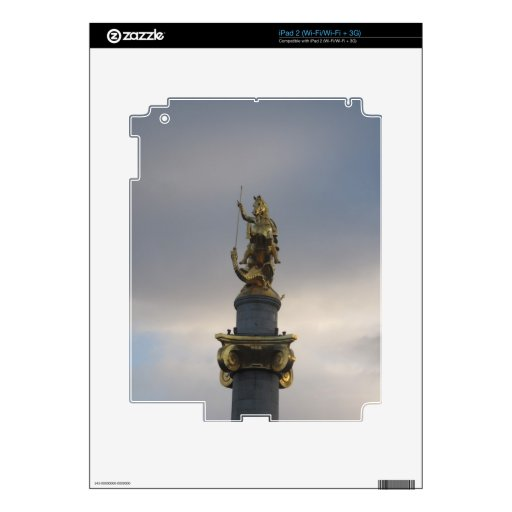 St. George Statue At Liberty Square In Tbilisi Decals For The iPad 2