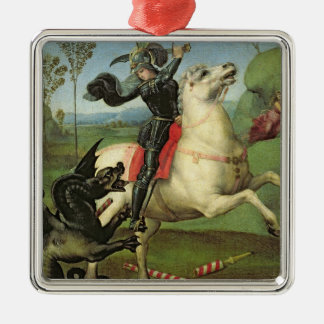 St. George Struggling with the Dragon Metal Ornament