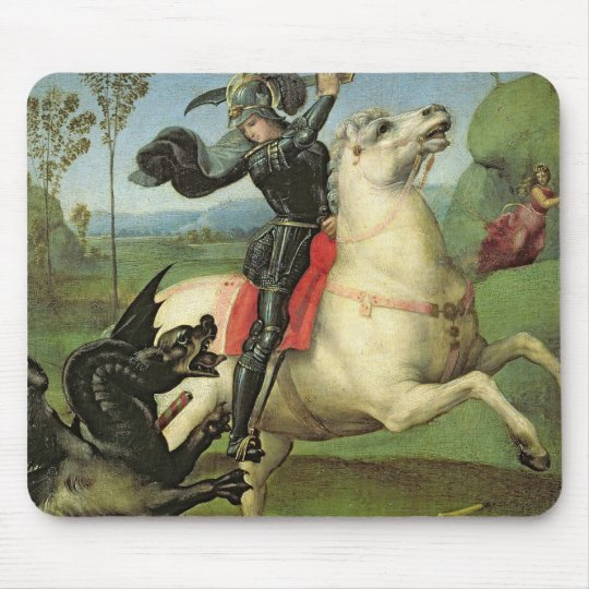 St. George Struggling with the Dragon Mouse Pad