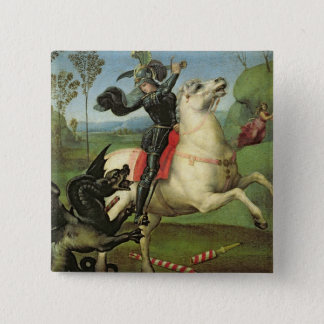 St. George Struggling with the Dragon Pinback Button