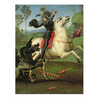 St. George Struggling with the Dragon Postcard