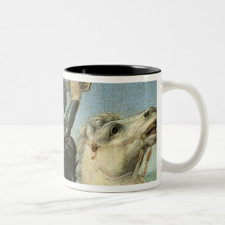 St. George Struggling with the Dragon Two-Tone Coffee Mug