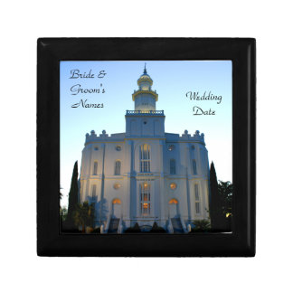 St George Temple: Bride's Gift, Wedding Giftbox Jewelry Box