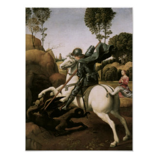 St. George & the Dragon, Raphael Fine Art Poster
