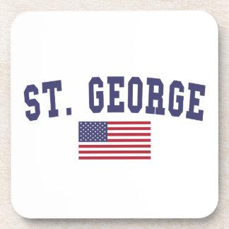 St. George US Flag Beverage Coaster