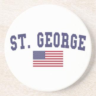 St. George US Flag Drink Coaster